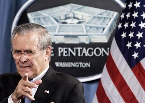 Rumsfeld - DOD Chief under President George 'W Bush