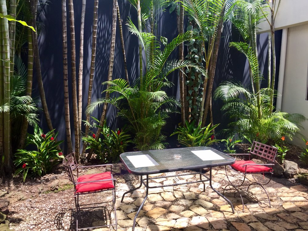 Garden area of Costa Rica's Best Sober Living