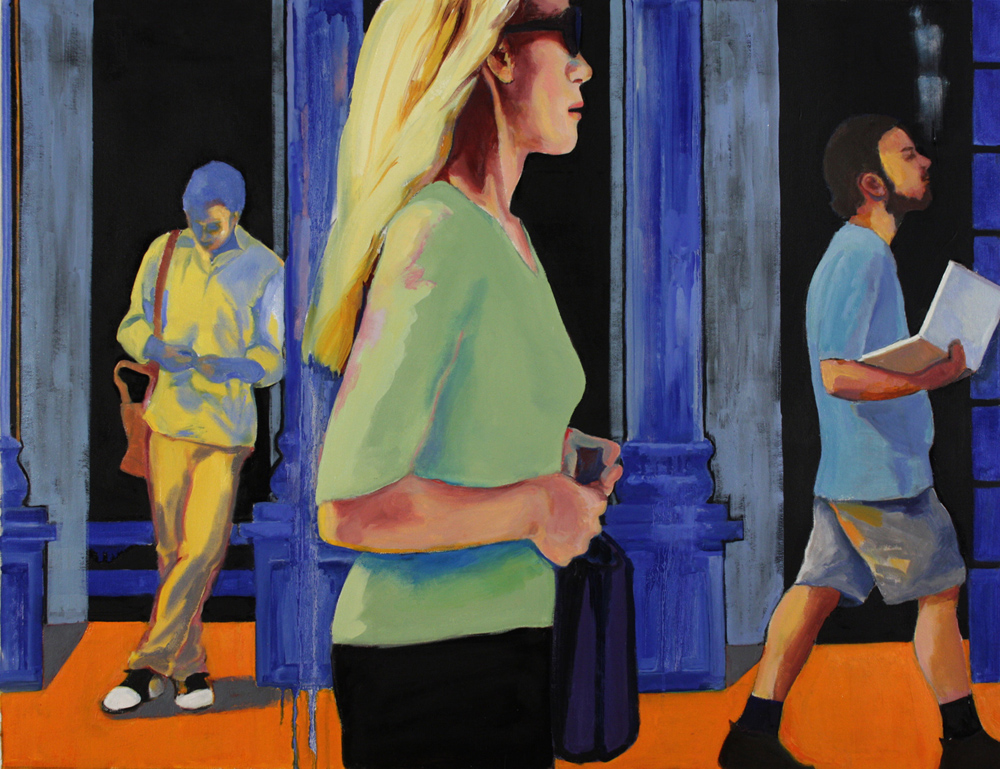 "Street Life, 2013, oil paint on canvas, 31"" x 40"", (private collection)"