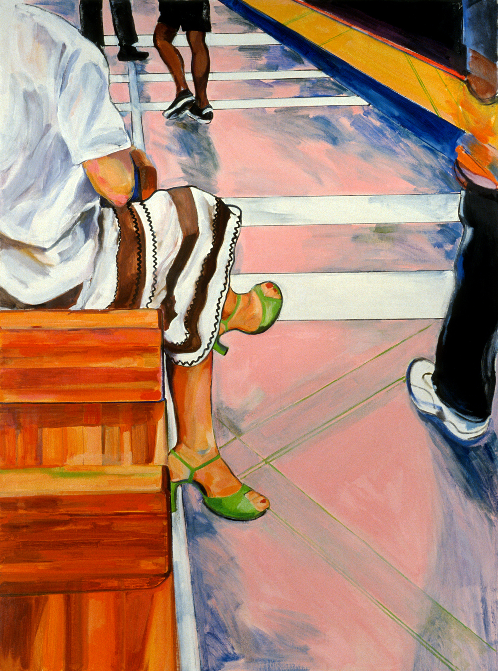 "Summer in the City , 2002. oil on linen, 56"" x 44"""