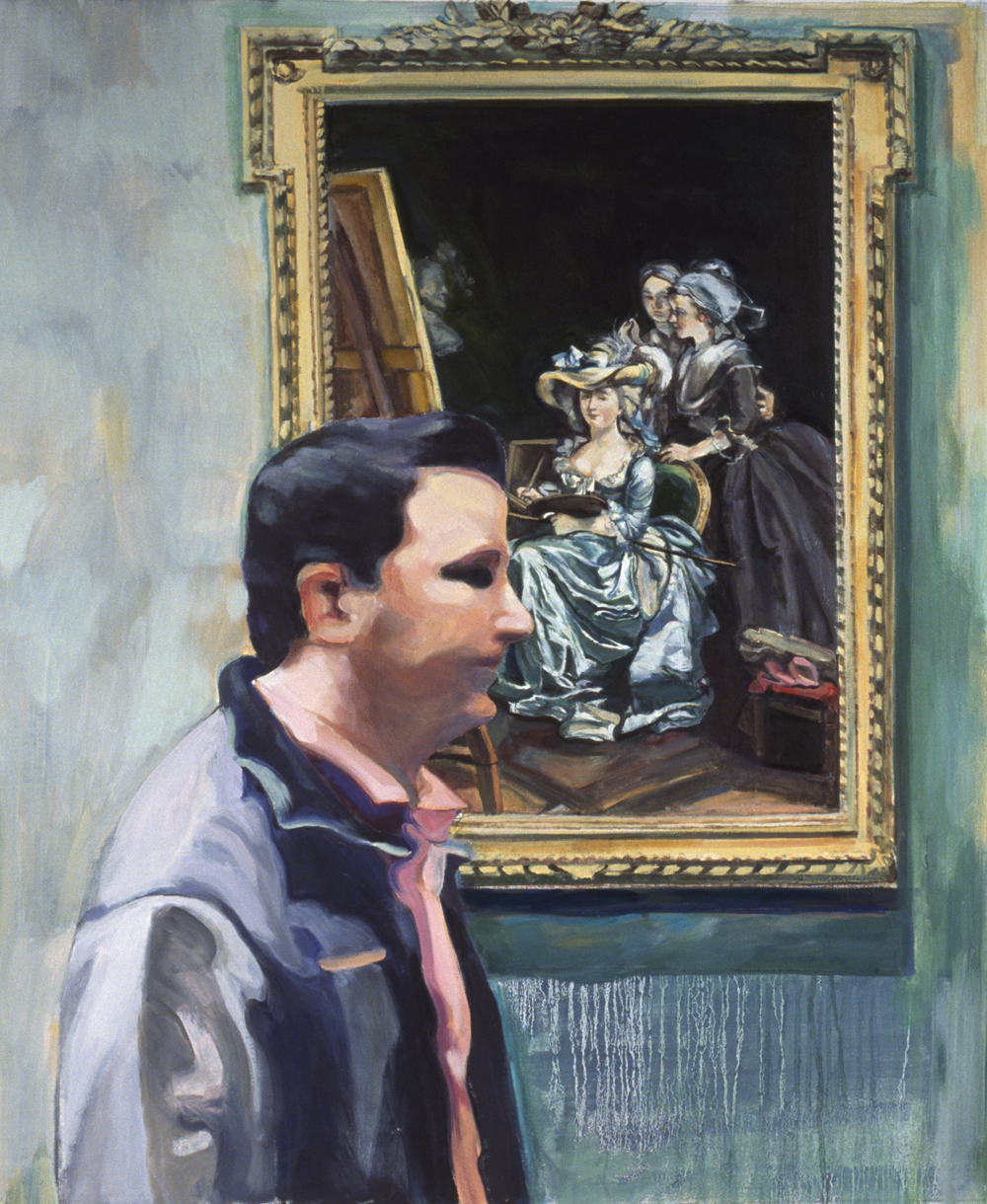 "Self-Portrait,  2006, oil on linen, 37"" x 31"""