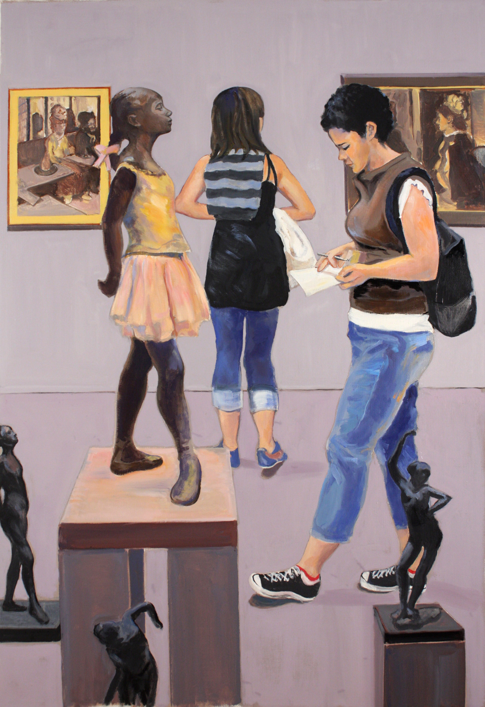 "Degas Gallery,  2016, oil paint on linen, 45"" x 31"""