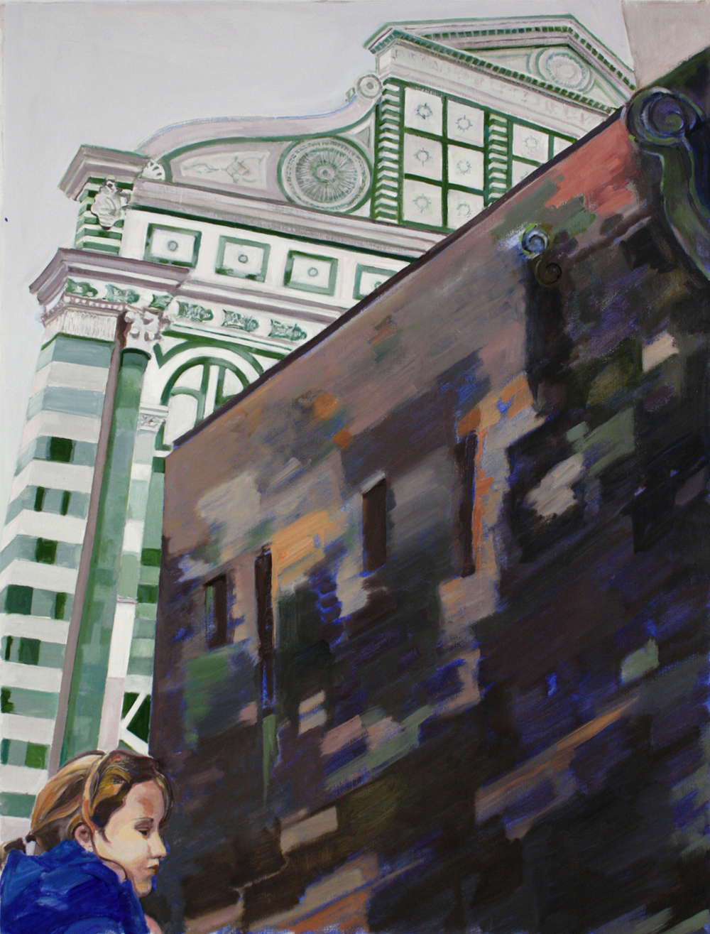 "Santa Maria Novella,  2013, oil on linen, 37"" x 28"""