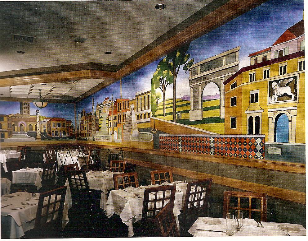 Eccoci! mural in Peppercorn's Grill, Hartford, CT