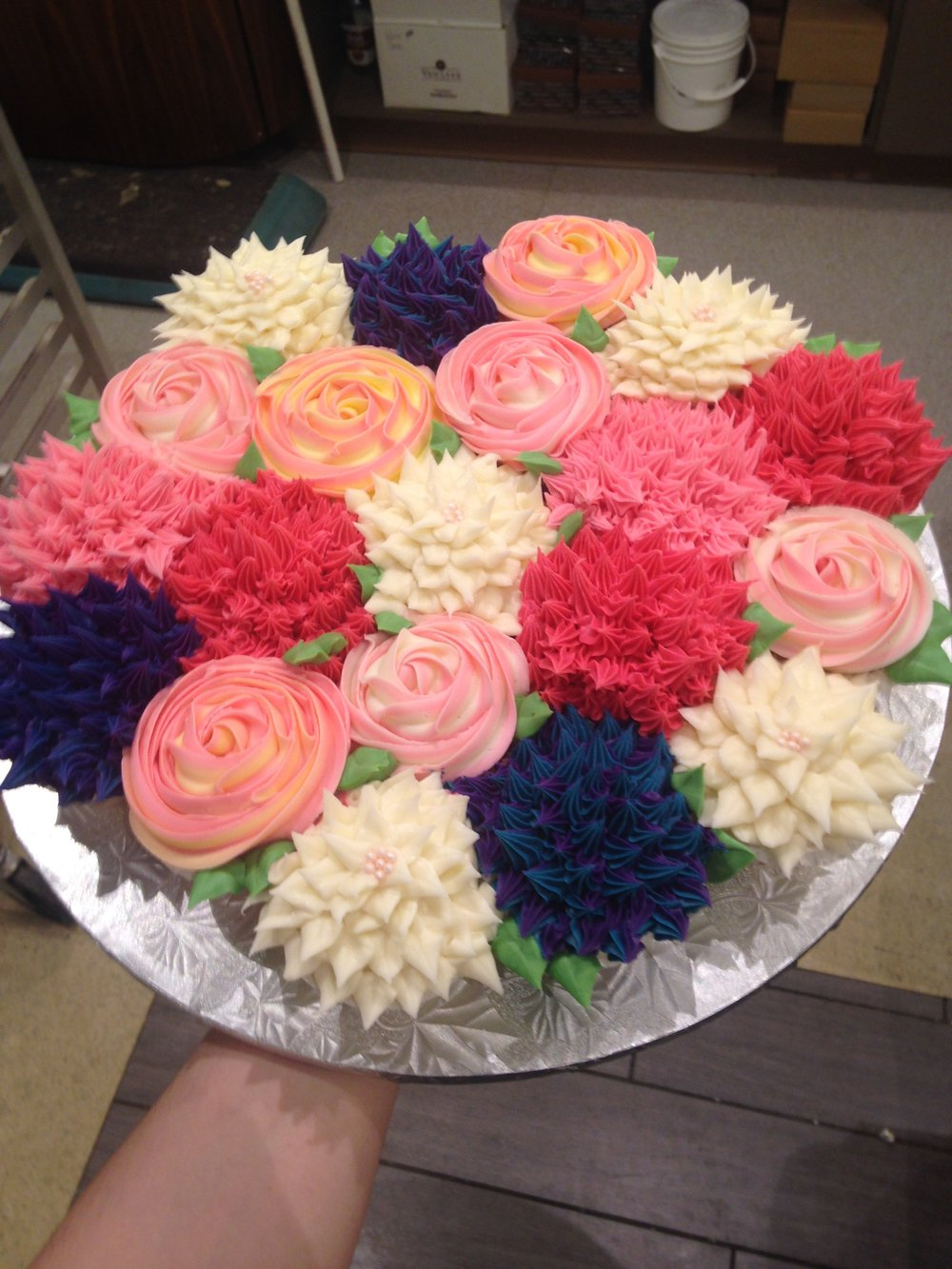 Cookies cupcakes ac cake design flower bouquet cupcakes izmirmasajfo Image collections