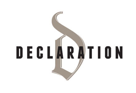 Restaurant identity for Declaration in Washington DC