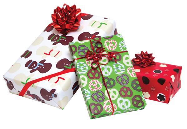 chocolate scented wrapping paper designed by group t design