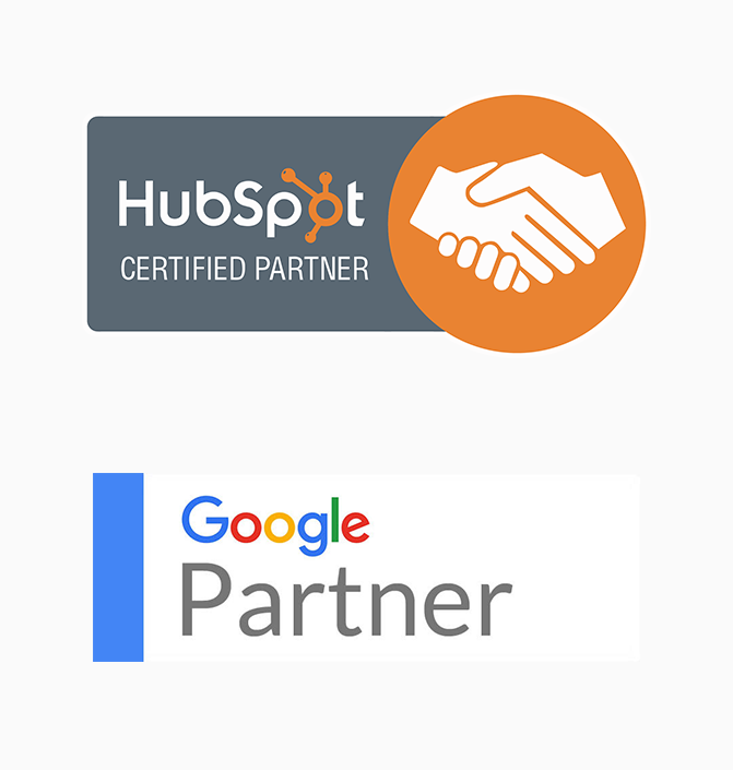 We Creatify's Certificates. Hubspot Certified and Google Certified Partner.