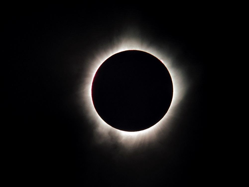 SOURCE:Total Solar Eclipse by tcutonilli Sylva, NC via skyandtelescope.com