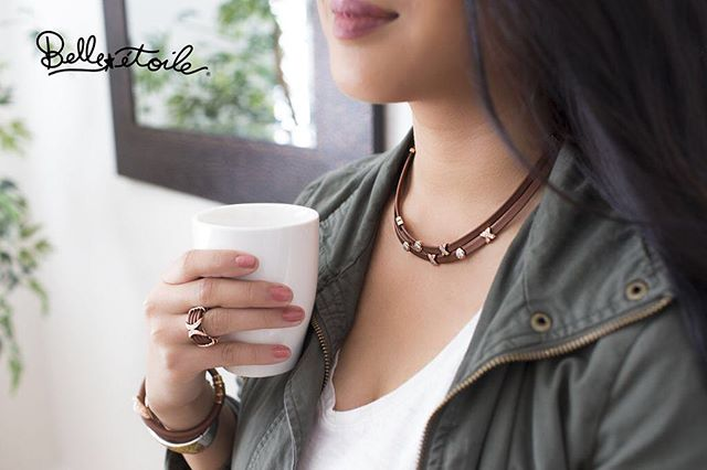 Fall Style Tip: Add a hint of brown and rose gold to your jewelry box for a warm and stunning look. Check out our selection of autumn-inspired styles from Belle Étoile today! #belleetoilejewelry #jewelry #style #shoplocal #squiresjewelers #autumninspired #shoponline #eastnorthport #longislandjewelrystore #treatyourself