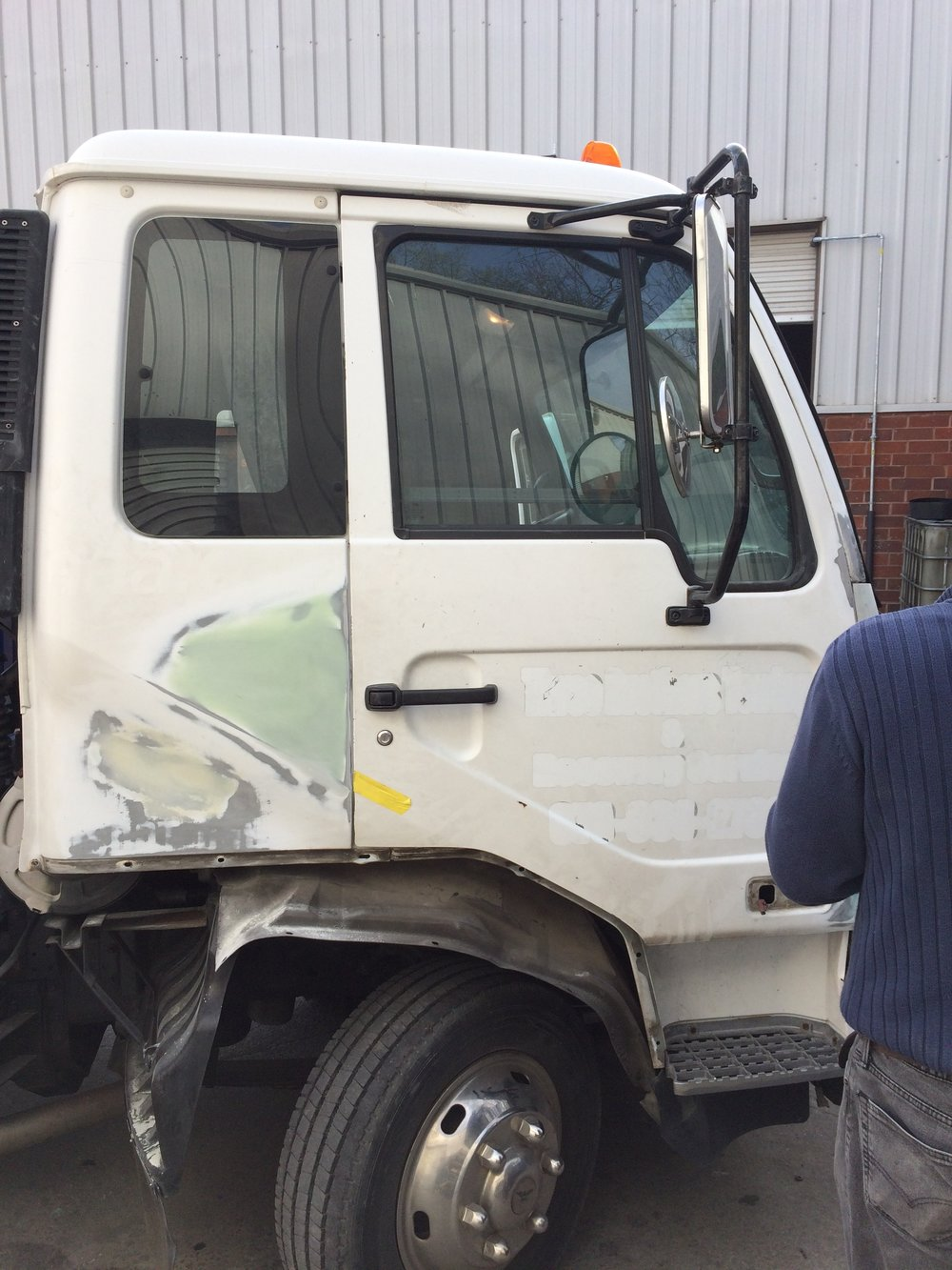 Damaged Tow Truck In for Repairs