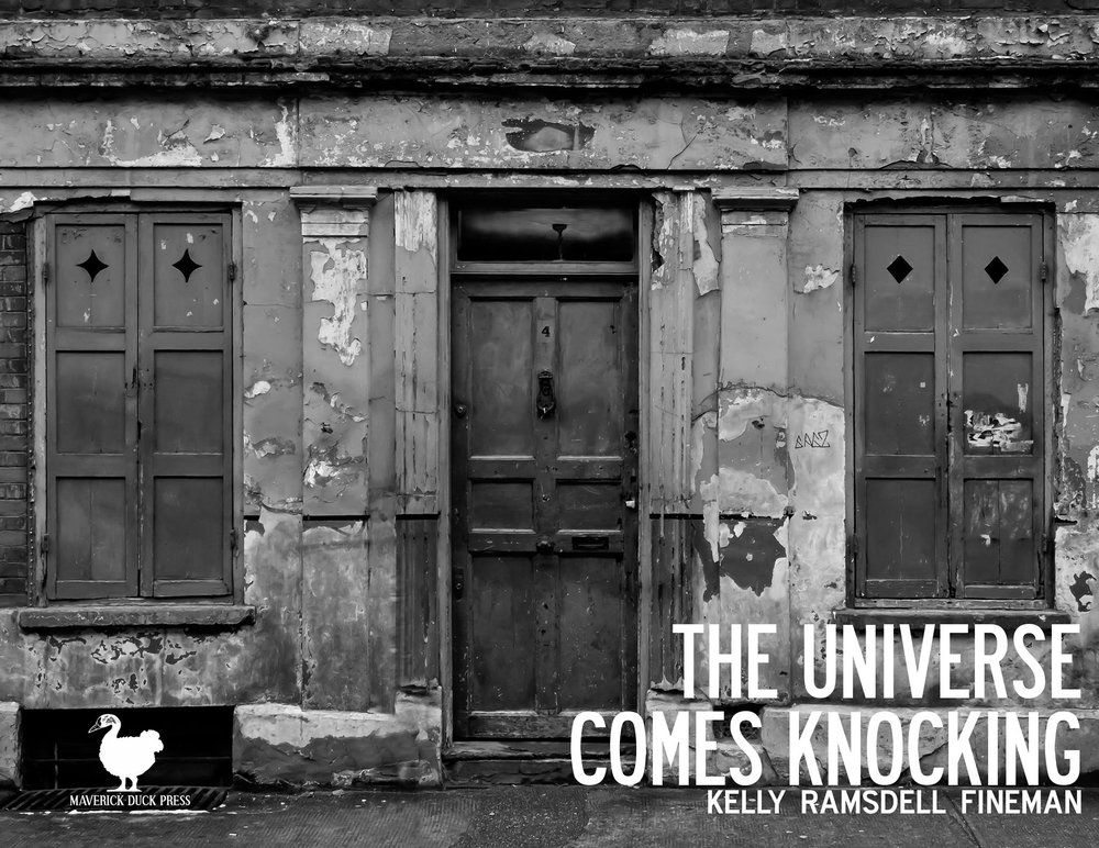 THE UNIVERSE COMES KNOCKING available signed for $6 plus shipping and handling.