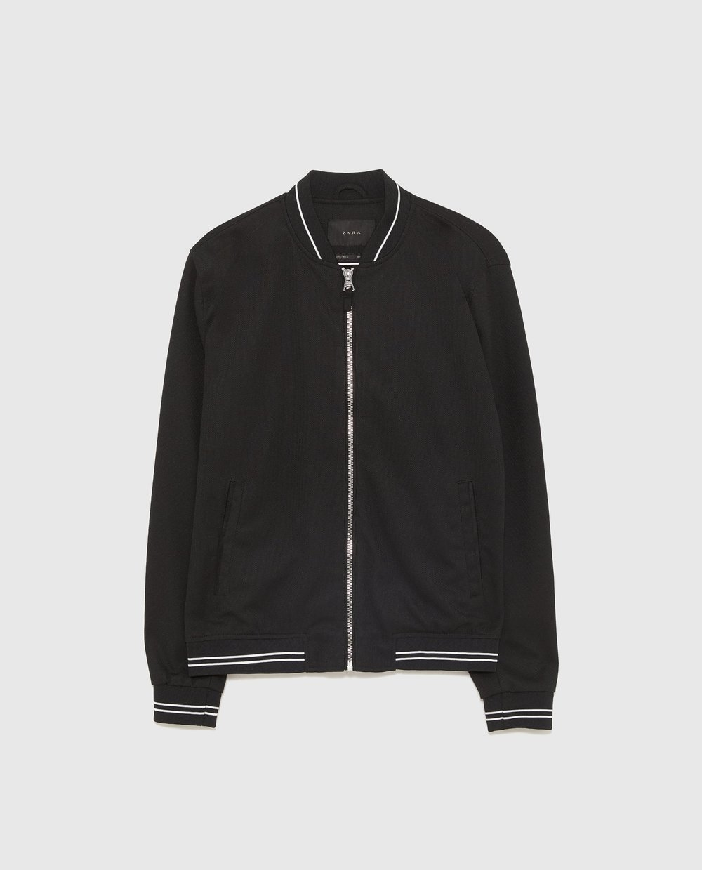 PIQUÉ BOMBER WITH PIPING