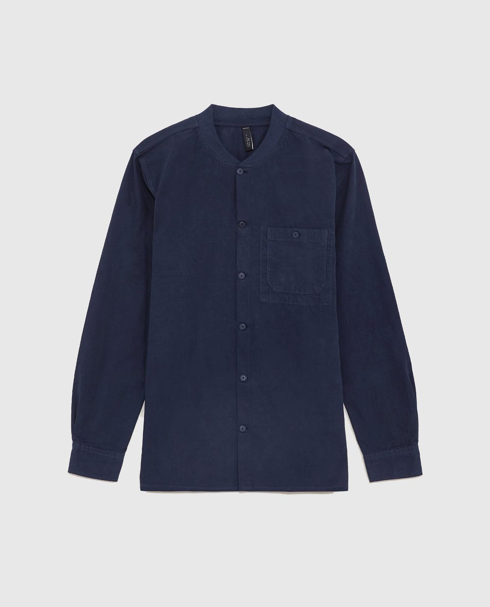 SHIRT WITH RIBBED NECK