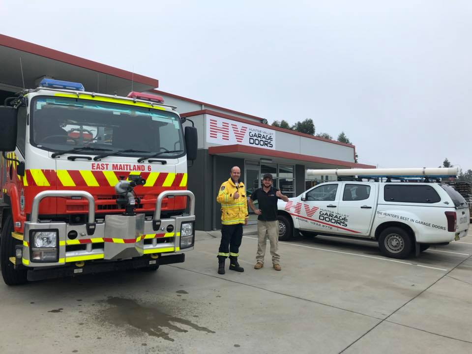 Jake with the East Maitland Rural Fire Brigade.