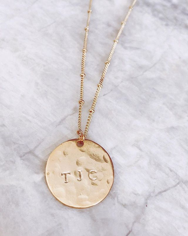 wearing you heart around your neck ♡ | initial medallion necklace