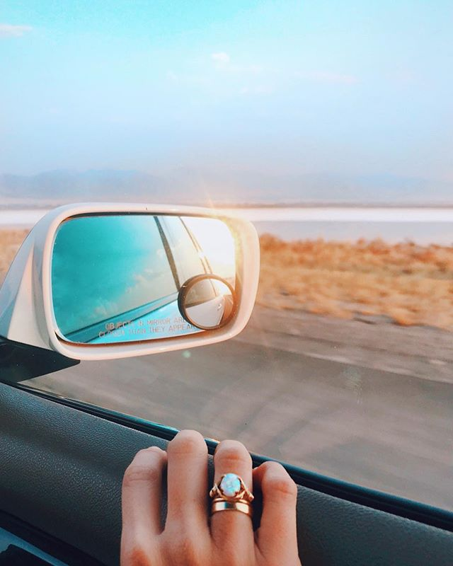 Always adventuring | opal braid ring at the Great Salt Lake ❣︎⚲