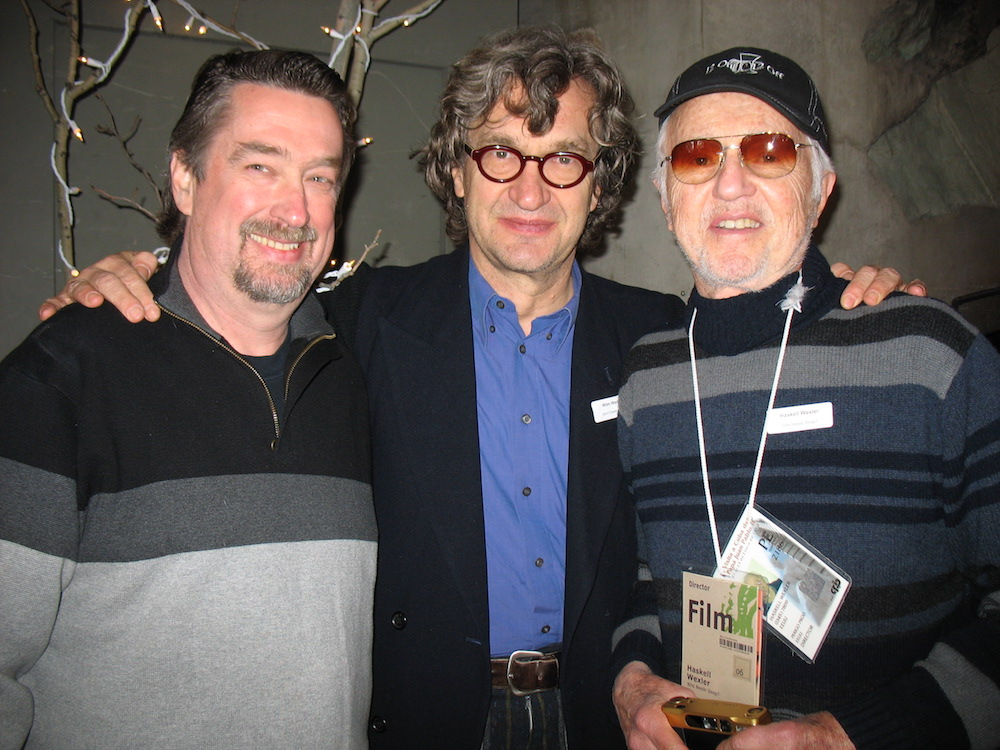 Festival director Geoffrey Gilmore, Wim Wenders and Haskell Wexler