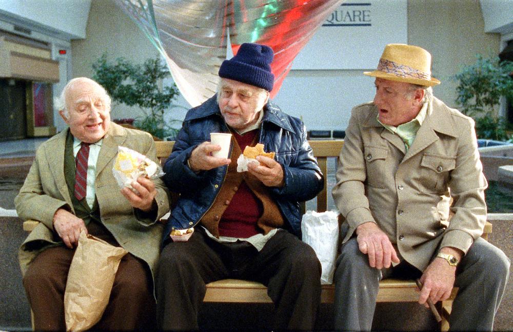 Coventry regulars (from left Allan Pinsker, Leon Holster and Bernard Canepari), enjoy a little nosh.