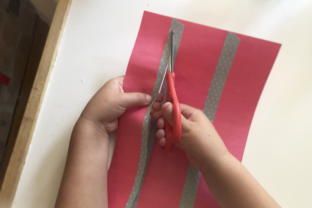 """Using tape provides a wider area on which beginner cutters can cut, and still remain """"on the line""""."""