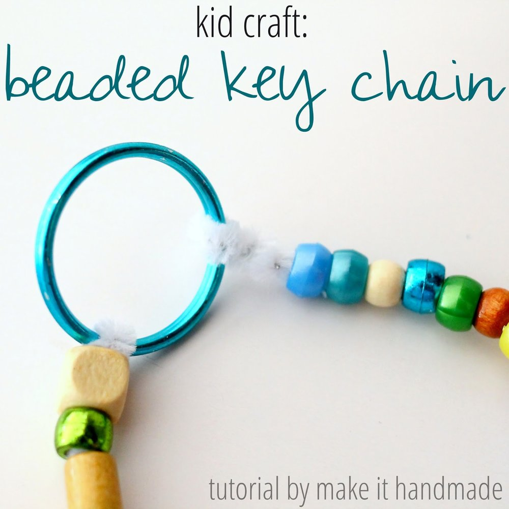 Beaded key chain by  Make It Handmade