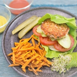 Salmon Burger with sweet potato fries.jpg