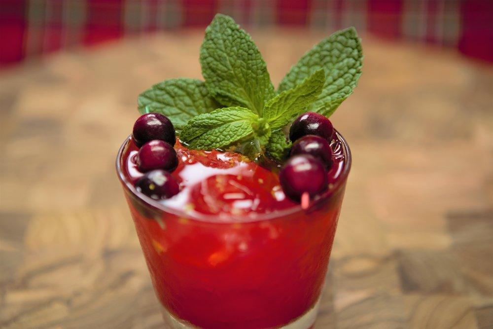 "Antioxidant Rich   ""Under The Mistletoe"" Cocktail"
