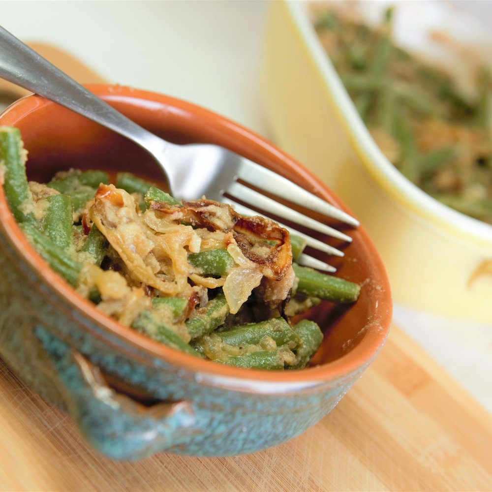 Gluten Free Vegan Holiday Green Bean Casserole