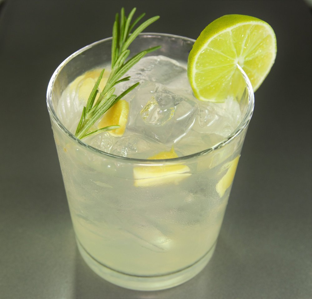 Rosemary Ginger Vodka Cocktail
