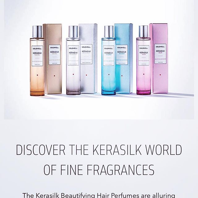 Have you heard of hair fragrances? If you just want that freshly-washed scent to last, Goldwell Kerasilk Hair Perfumes are for you! The product even adds a little shine! #andrewscottsalon #nmhair #abqsalon #journalcenter #professionalwomen #mybirthdaylist #abqwedding #hairtrends #myhairsmellsamazing #kerasilk #goldwell #comealittlecloser 😘