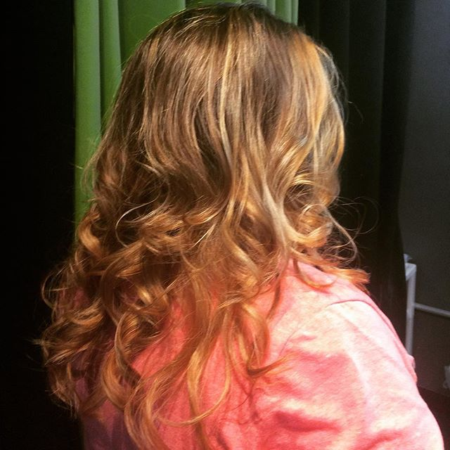 Our lovely Rachael styling her new balayage... #andrewscottsalon #hairtrends #nmhair #goldwell #abqsalon #abqwedding #abq #journalcenter #abqstylist
