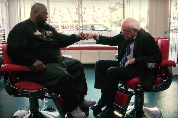 Killer Mike interviewed Democratic Presidential nominee Bernie Sanders in 2016 at Killer Mike's barbershop in Atlanta, GA.