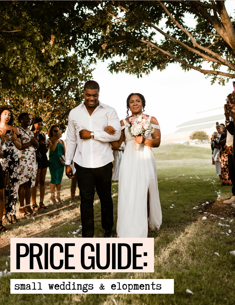 small weddings price guide