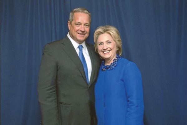 Dennis Murphy with Hillary Clinton.