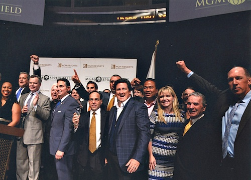 MGM Resorts International leadership, along with Ventry Associates, celebrate the move to Springfield.
