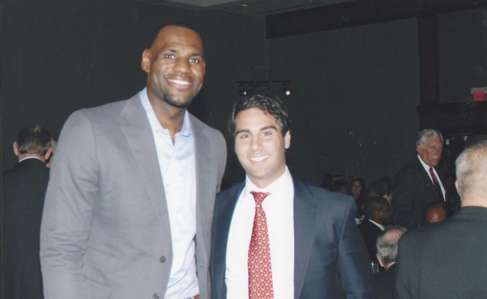 Anthony Abdelahad with LeBron James.
