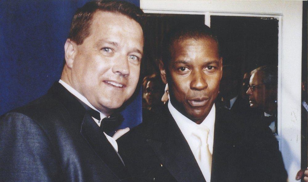 Dennis Murphy with Denzel Washington.