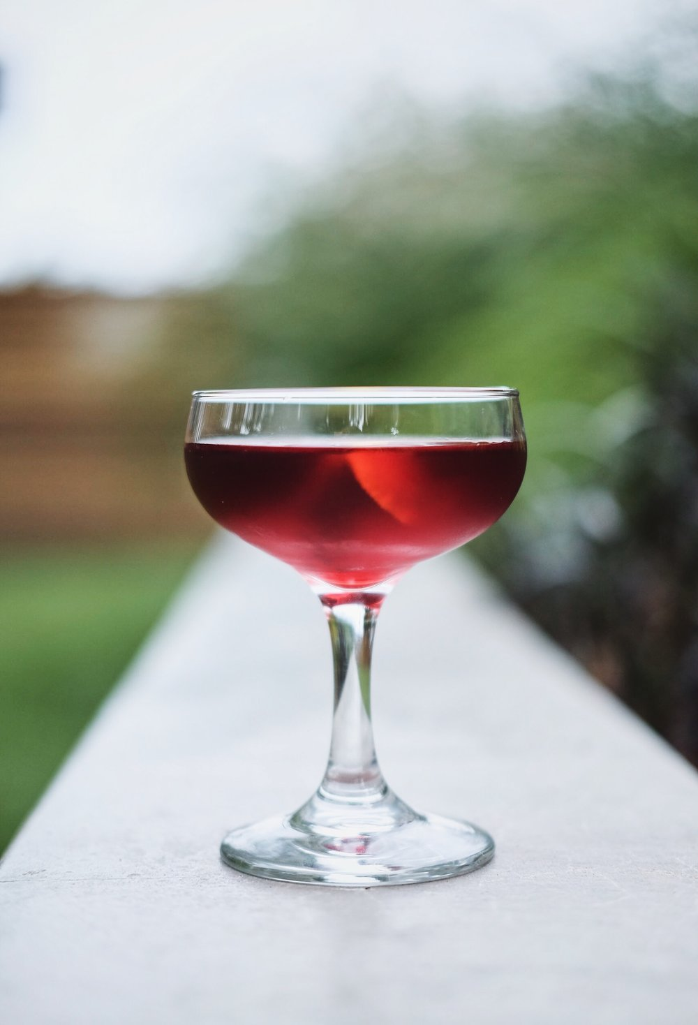 Red Right Hand - 1½ oz Raspberry-infused vodka½ oz Cascadia Bitter Liqueur½ oz Dolin Blanc vermouth2 dashes orange bitters
