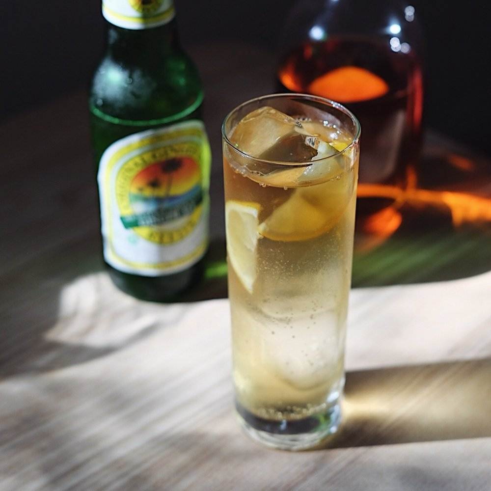 Whiskey Highball - 2 oz your favorite whiskeyginger ale1/2 of a lemonice