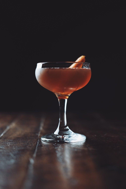 ingredients: - 2 oz rye whiskey1 oz sweet vermouth2 dashes aromatic bittersGarnish: orange zest