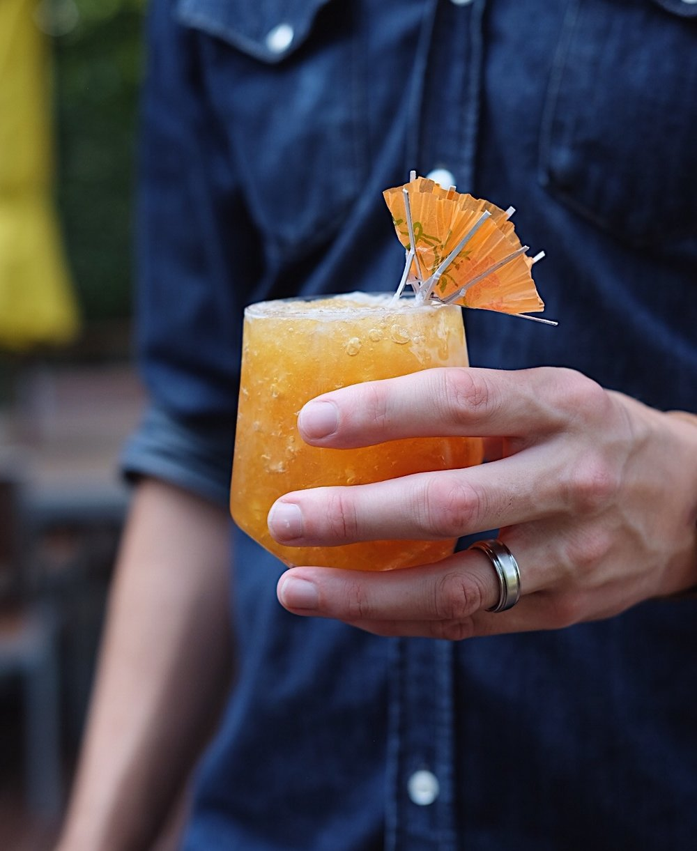 ingredients: - 2 oz black rum1 oz fresh lemon juice1 oz passion-fruit syrup