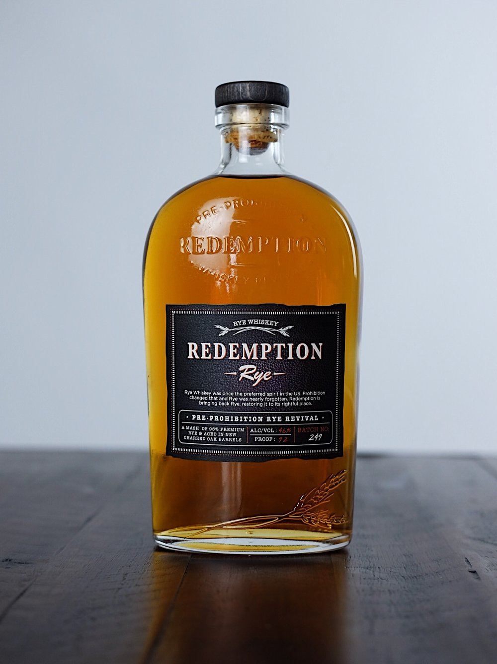 Redemption Rye - AGE: NAS (no age statement)COST: $32-$35ABV: 46DEFINING FLAVORS: Rich & Spicy