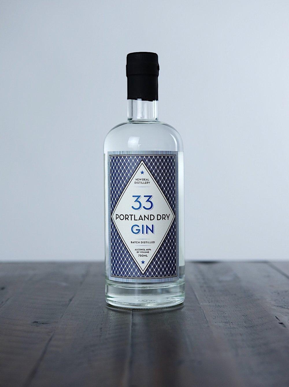Portland Dry Gin 33 - AGE: unagedCOST: $25ABV: 46DEFINING FLAVORS: Juniper Berries & Pine