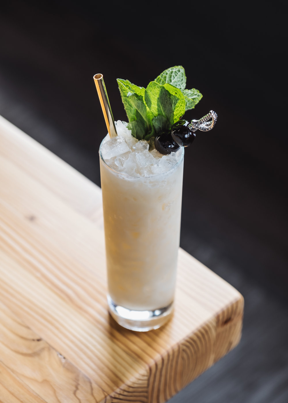 ingredients - 2 oz Krogstad Aquavit3/4 oz fresh lime juice1/2 oz creme of coconut1/2 oz root beer syrup