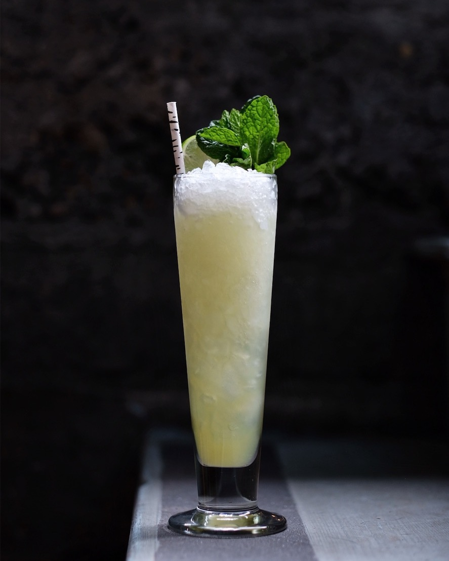 ingredients: - 1 1/4 oz Green Chartreuse1/2 oz Velvet Falernum1 oz pineapple juice3/4 oz fresh lime juice