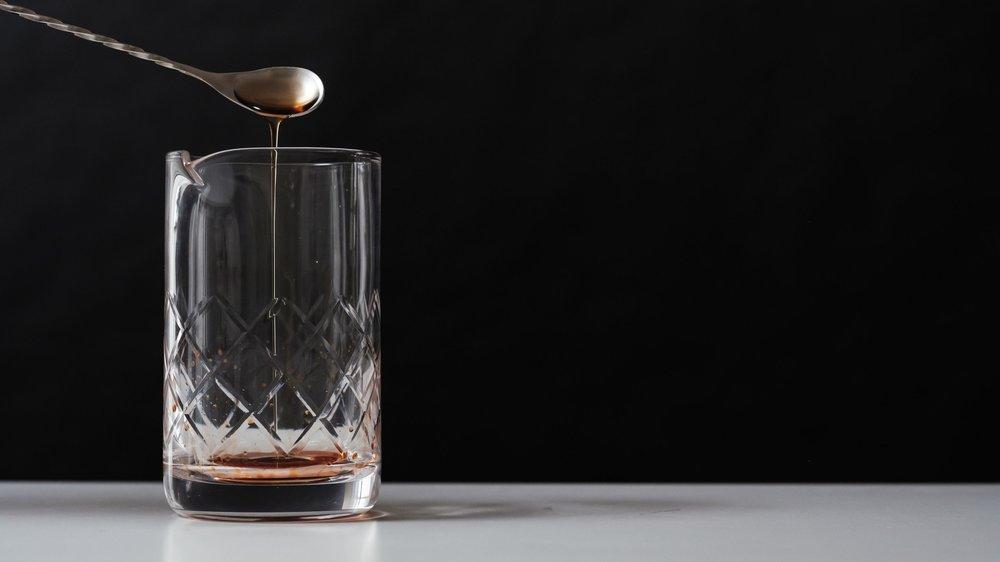 Add 1 teaspoon of Demerara syrup -