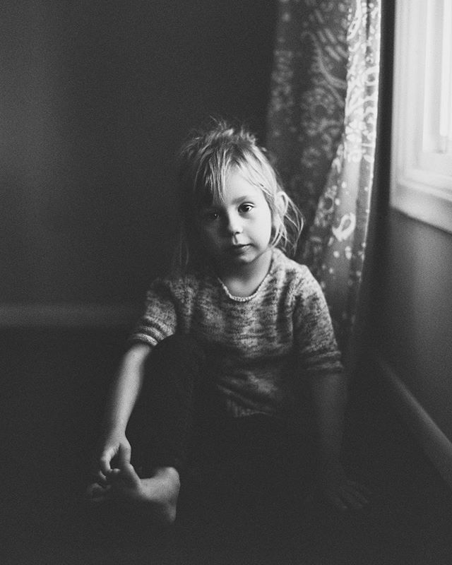 one of my favorites of my little girl. she's not this little anymore but watching her and her big heart grow is my reason for everything. #ilfordhp5 #photovision #pentax645 #film #mediumformat