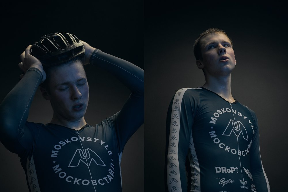 My personal project about Moscow-based bicycle community - Moskovstyle. It's been four years now that five riders participate in competitions, take top places and hang out together.  In this series of portraits I strived to show how the pain of overcoming yourself and the joy of doing what you love most are interveined in sports.