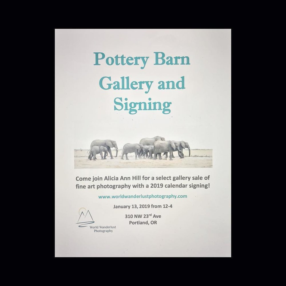 Pottery Barn Gallery and Signing - January 13, 2019  12pm-4pm310 NW 23rd Ave, Portland Oregon