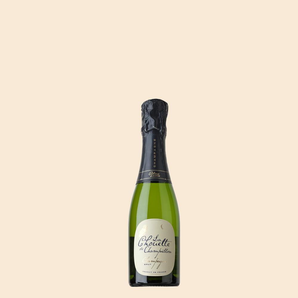 Champagne Chouette Blanc de Noirs Piccolo - Pöllösamppanja 0,20 cl piccolo-koossa, pienempiin juhlahetkiin.